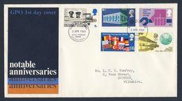 Great Britain 1969 FDC + Mi 511 /5 - Anniversaries / Jahrestage : Europa, Nato, ILO, Aviation-events - FDC