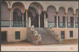 La Cour Des Lions, Palais Du Bardo, Tunis, Tunisie, C.1910 - Neurdein CPA - Tunisia