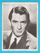 GREGORY PECK - Yugoslavian Vintage Collectiable Gum Card Issued 1960's * American Film Actor Movie USA - Cinema & TV