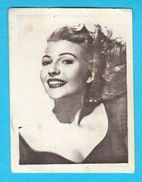 RITA HAYWORTH - Yugoslavian Vintage Collectiable Gum Card Issued 1960's * American Film Actress And Dancer Movie USA - Cinema & TV