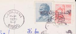 JUGOSLAVIA 1979 SU CARTOLINA DA LUBLJANA TARGHETTA CICLISMO - 1945-1992 Repubblica Socialista Federale Di Jugoslavia