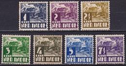 Ned. Indië: 1938-39 Karbouw Met WM Complete Ongestempelde Serie NVPH 246 / 252 - Indes Néerlandaises