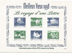 FEUILLET LE VOYAGE D'UNE LETTRE 1998 - Documents De La Poste