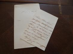 LAS Autographe Vicomte Luois De Noailles à Propos D'autographes; Dont Talleyrand 24/01/1850 - Autógrafos
