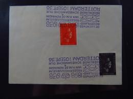 Stamps On Paper Netherlands Regeeringsjubileum Wilhelmina 11, 5, 12.5 Cent Rotterdam 10 Sept 1938 De Luchtweg Nederland - Postzegels