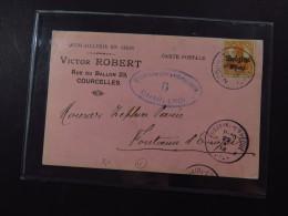Cover Belgium Charleroi 7.5/8 Cent Militärische Überwachungsstelle 1918 - Timbres