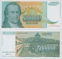 YUGOSLAVIA  500.000  Dinara 1993  UNC , P-131  ZA ( Replacement ) - Joegoslavië