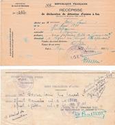WW2 - Déc.1942 - DÉPÔT OBLIGATOIRE DES ARMES Suite à L'invasion De La Zone Sud - 3 Documents - Documentos Históricos