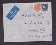 Iraq: Airmail Cover To Austria, 1937, 2 Stamps, King (minor Crease, See Scan) - Irak