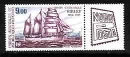 TAAF 1984-P.A. N°85** NAVIRE LE GAUSS NORDPOSTA A HAMBOURG - Poste Aérienne