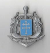 INSIGNE 1° REGIMENT DE FUSILIERS MARINS , Croix De Lorraine, Hyppocampes- DRAGO NOISIEL - Marine