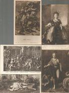 Cp, Petits Modéles , ARTS , Peinture Et Tableaux  , LOT DE 5 CARTES DE TABLEAUX - Postcards