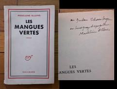 Madeleine Alleins - Les Mangues Vertes Romam. 1957. Con Dedica E Firma. - Libri, Riviste, Fumetti