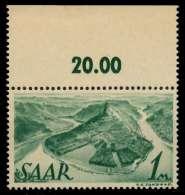 SAARLAND 1947 Nr 225Z Postfrisch ORA X799902 - Unused Stamps