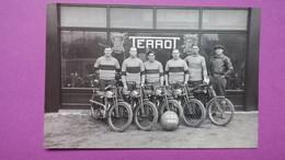 "CPA  Reproduction - Equipe De Moto-club Année 30 "" Terrot "" - Motorbikes"