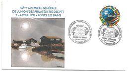 OBLITERATION ASSEMBLEE GENERALE DE L'UPPTT à LA TREMBLADE RONCE LES BAINS CHARENTE MARITIME 1998 - Marcophilie (Lettres)