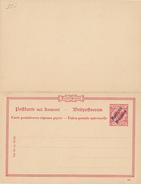 MAROCCO - 1899 , Reply Post Card - Deutsche Post In Marokko