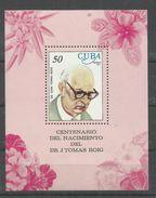 """Kuba Block 51 """" Block Zum 100. Geburtstag Von Dr. J.T.Roig 1977  """" Postfrisch Mi.:3,50 € - Célébrités"""