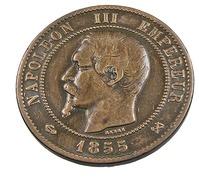 10 Centimes - Napoléon III - 1855 B - Ancre - Rouen  - Bronze - TB+ - - France