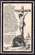 76x  Image Pieuse Chromos Allemagne Souvenir Décés En 1896 Marie Bernardina Van Ginneken N°2 - Imágenes Religiosas