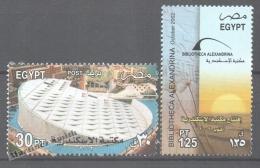 Egypt 2002 Yvert 1743-44, Alexandria Library Inauguration - MNH - Egypt