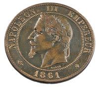 10 Centimes - Napoléon III - 1861 BB - Strasbourg - Bronze - TB+ - - France