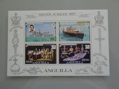 1977  Anguilla  Yvert BF 17  ** Bateaux Ships  Scott 274a  Michel B 15  SG Ms 273  Royal Visit - Anguilla (1968-...)