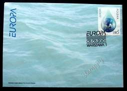 Poland Water Resources 2001 (stamp FDC) - Covers & Documents