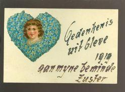 Duitsland  Bad Cleve ( Kleve ) Gedenkenis  1919  - Découpi Collé Sur Carte - Kleve