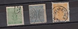 SUEDE SWERIGE - LOT DE 3 TIMBRES OBLITERES - 3 STAMPS  / R259 - Suède