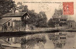 MORET SUR LOING LE CANAL AU PONT DE BOURGOGNE - Moret Sur Loing