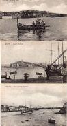 76Cq   Malte Harbour Lot De 3 Cpa - Malte