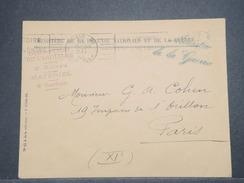 FRANCE  - Enveloppe Du Ministère De La Guerre Pour Paris En 1940 - L 9021 - Guerre De 1939-45