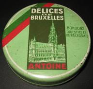 RARE ! Boîte Ancienne - Chocolaterie - Confiserie Antoine - Délices De Bruxelles - 5 Scans - Dozen
