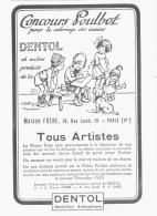 """PUB  JEUX CONCOURS  """"DENTOL """"   Par POULBOT 1923 (1) - Pubblicitari"""