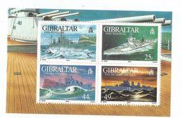 1994 Gibraltar  World War II Naval Ships Complete Souvenir Sheet  MNH - WW2