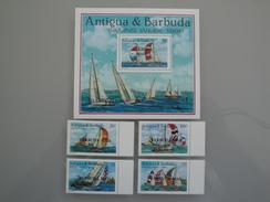 1988 Barbuda Yvert 988/91 + BF 131 ** Bateaux  Ships- Scott 1112/5 +S/S Michel 1081/4 + BL - SG 1066/9 + Ms Sailing Week - Antigua Et Barbuda (1981-...)