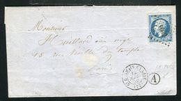 Superbe Lettre Du Pecq Par St Germain En Laye Pour Paris ( 1859 ) - Marcophilie (Lettres)