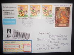Tchequie, Lettre Recommande De Brno 2013 Pour Chiang Mai - Tsjechië