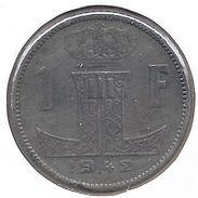 LEOPOLD III * 1 Frank 1942 Vlaams/frans * Z.Fraai / Prachtig * Nr 9400 - 1934-1945: Leopold III