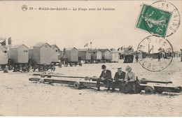 59 Malo Les Bains La Plage Avec Les Cabines - Malo Les Bains