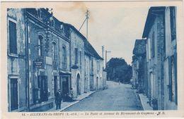 Allemans-du-Dropt. La Poste Et Avenue De Miramont-de-Guyenne - France