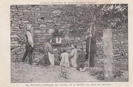 LES JARDINS OUVRIERS DE SAINT-ETIENNE (LOIRE) - LA CHAPELLE RUSTIQUE AU JARDIN ET LA PRIERE DU SOIR EN FAMILLE - 2 SCANN - Agriculture