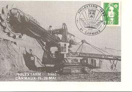 Carmaux : Mines à Ciel Ouvert Avec Une Haveuse Gigantesque 1990 - Carmaux