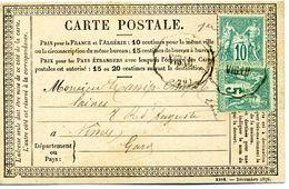 Carte Postale Précurseur: N° 65 Et 75: GARD: SAUVE Pour NIMES: 1877 - Poststempel (Briefe)