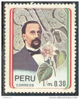 RN)1992, PERU, SCN 1020, HISTORY, 0.30 Im,ANTONIO RAIMONDI,NATURALIST AND PUBLISHER, DEATH CENT., MNH, STAMP - Peru