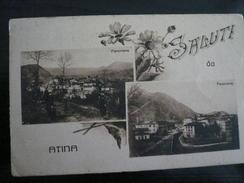 Atina Frosinone Saluti Da ( Antica Caserta) Con 2 Vedutine Usata 1925 Rara - Altre Città