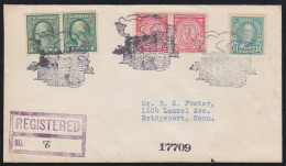 U.S.A. (1931) Log Cabin*. Clouds*.  Fancy Cancel From Log Cabin, California.  Three Lovely And Very Detailed Strikes In - Otros