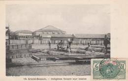 GRAND-BASSAM   Indigénes Faisant Leur Lessive     TB PLAN 1907 - Côte-d'Ivoire