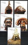 ANGOLA, 2001, MASKS, CE#1056-60, MNH - Angola
